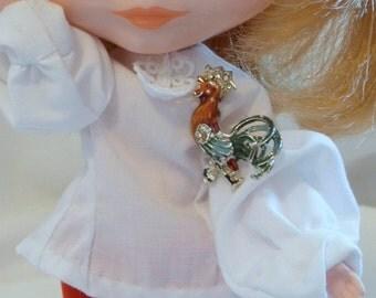 Vintage Rooster Broach PIN  Blythe Pullip Barbie Licca n more