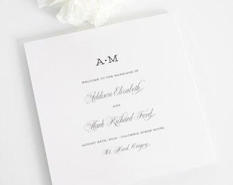 Wedding Programs - French Garden Design - Deposit