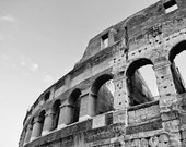 Fine Art photography, Colosseum, Coliseum, Rome, Roma,  Italy, black and white, 8x12 shown, 8x10 available, vintage