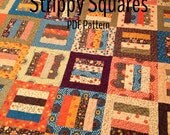 PDF quilt pattern -- Strippy Squares -- multiple size options -- jelly roll friendly