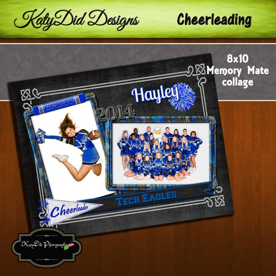 8x10 Memory Mate SPIRIT Cheer Cheerleading Collage or