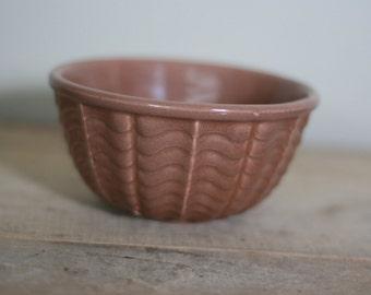 vintage medium brown ceramic bowl