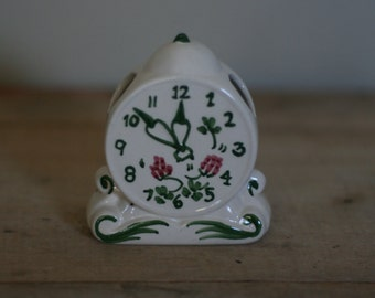 vintage ceramic clock wall pocket vase