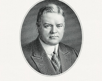 Bureau of Engraving and Printing reproduction Intaglio engraving 8 x 10 Herbert Hoover