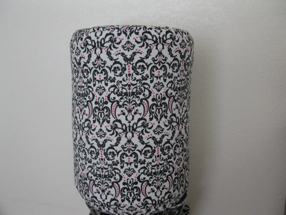 5 Gallon Bottle cooler cover-Black White and Pink