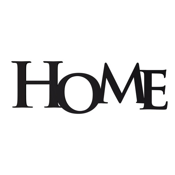 Home Word Art Wood 3D Cutout Home by MRC Wood Products