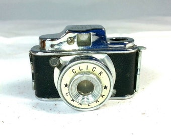 Click Mini Camera with leather case Made in Japan
