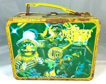 Vintage The Muppet Show Metal Lunch Box Old Rusty