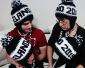 Personalized Knit Hats for Womens, Mens, Kids with Word Knit Hats Custom Customized Personalized Gifts Hats Customized Gift Ideas