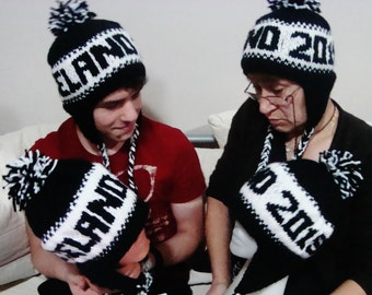 Custom Personalized Gifts for women, gifts for men, mom, him, girls, her, kids, dad, grandma, hand knit hats birthday gifts, custom hats