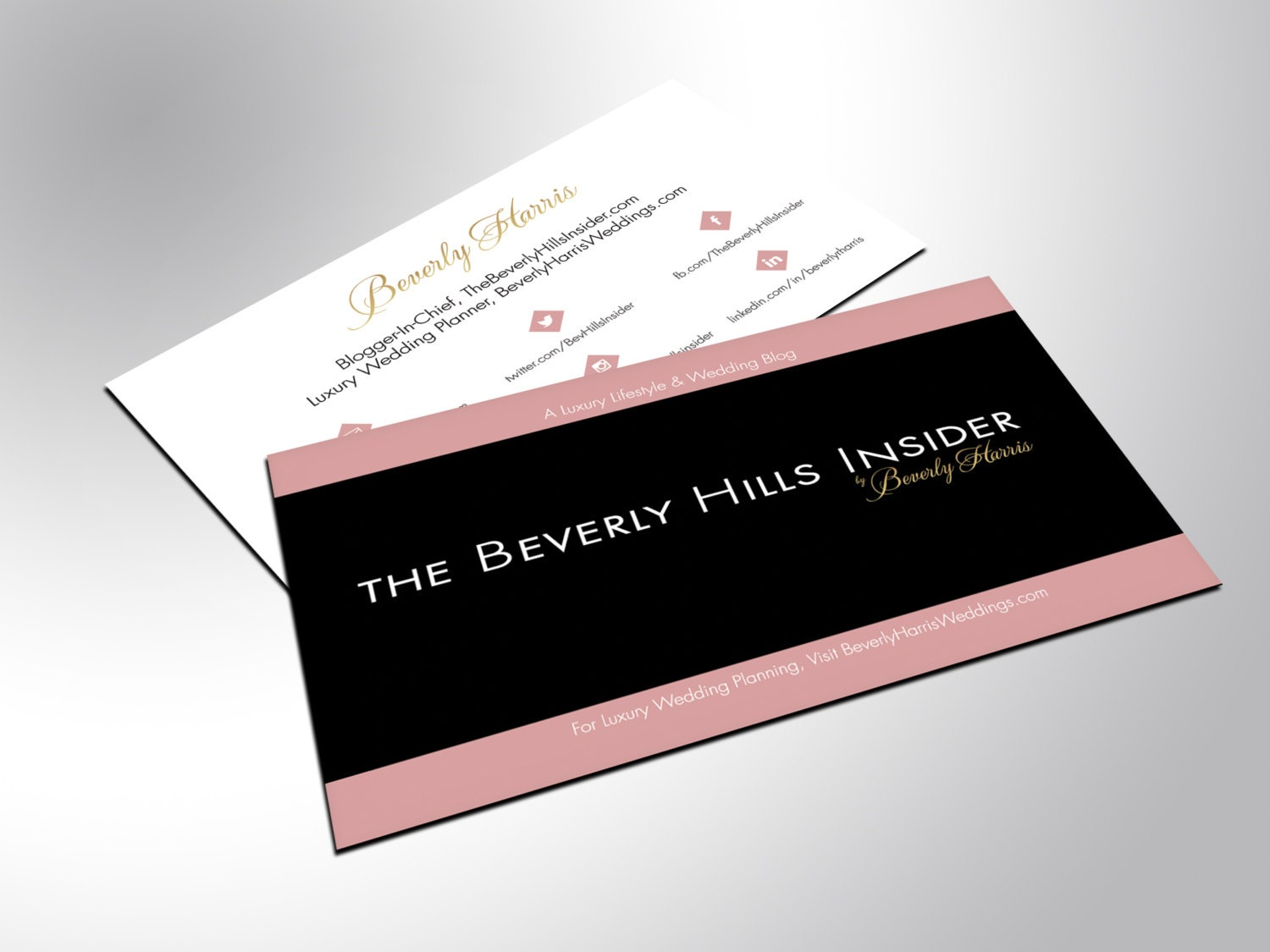 Business Cards with Gold Foil and Silk Laminate