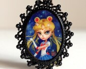 LAST ONE - Sailor Moon - Limited Edition Sailor Moon printed cameo by Mab Graves