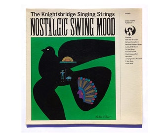 "Milton Glaser record album design, 1964. ""Nostalgic Swing Mood"" LP"
