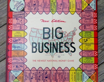 Vntage Big Business Game Board by Transogram 1936