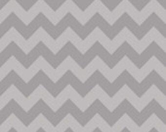 Laminated Cotton Oilcloth splat mat 30 x 40 LAST ONE Riley Blake gray tone-on-tone chevron