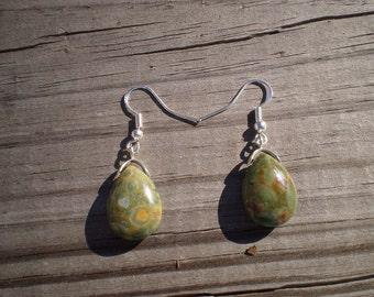 Rhyolite French Hook Earrings