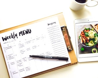 NOTEPAD: weekly menu with tear-off market list  [I've got it together' series] Organized Living, Planner Notepad, Meal Planning