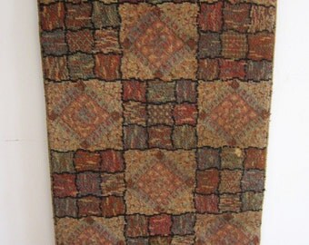 Very Cool Vintage Wool Rug 52 x 27