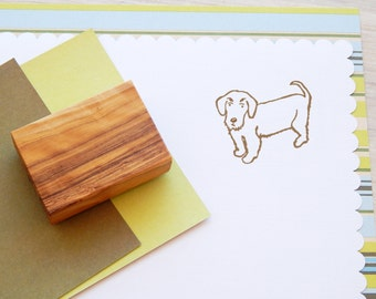 Charity Stamp Wire Dachsund - Olive Wood Stamp