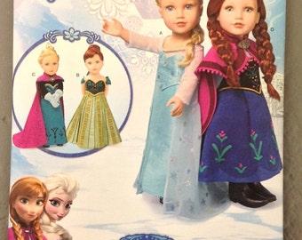 Simplicity 1217 - Disney Frozen Anna & Elsa Dresses for 18 inch dolls - new!