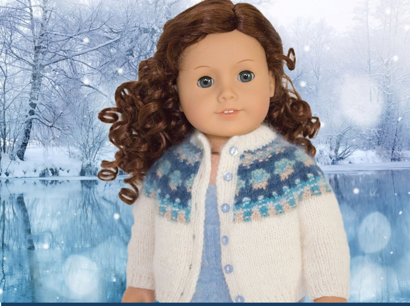 Items similar to Knitting Pattern for American Girl Doll ...