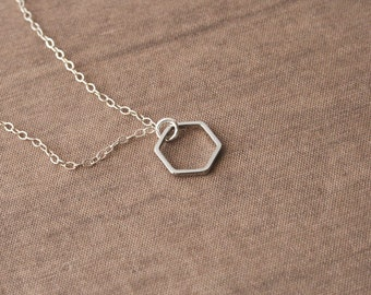 Hexagon Bracelet,Geometric,Dainty Silver Bracelet,Cute Layer Bracelet,Hexagon Bracelet,Geometric Bracelet
