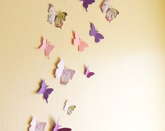 15 3D Wall Butterflies
