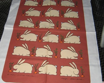 You Want To Put Your Dirt Hands On Me , Great 1983 Lillian Vernon Bunny Towel Never used