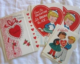 4 vintage valentines - UNUSED