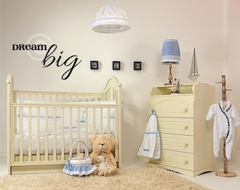 Vinyl wall decal Dream Big wall decor B50
