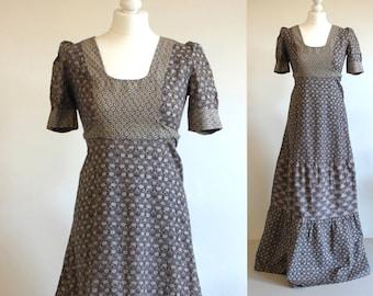 Vintage 70s dress, vintage maxi dress, 70s maxi dress, boho dress, hippie dress, boho maxi dress, bohemian dress, 1970s dress, long dress