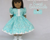 American Girl Doll Clothes by MyAngieGirl-Aqua Spring Dress