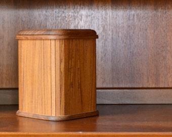 vintage mid-century teak kalmar designs ice bucket