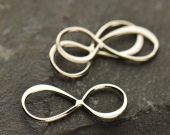 Infinity Link - C2695, Small Sterling Silver, Figure eight Infinith Charm, Connector Links