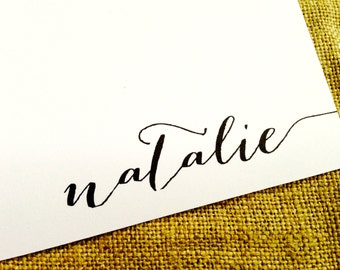 Personalized Stationery Custom Stationary- Name Running Off