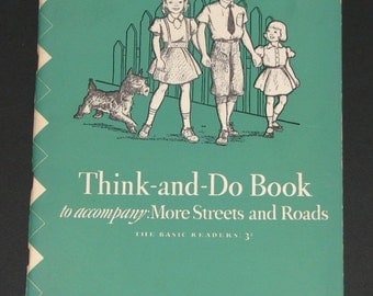 1943 Think and Do Book to accompany More Streets and Roads - Dick and Jane series - 3rd grade - NEW - unused workbook