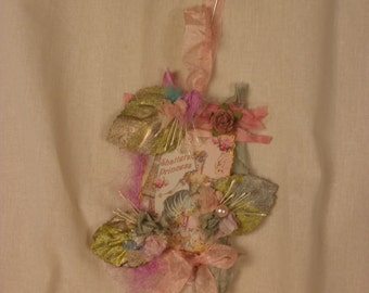 A Trio of Hair Clips- Shoe Clips-Anything clips Antoinette Gilded Leaves .  On a Vintage Inspired Hang Tag