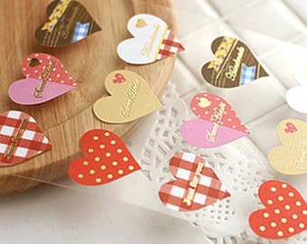 30 Cute Heart Stickers (1.1 x 1.1in)