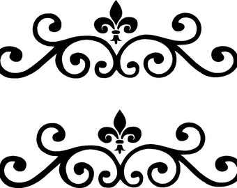Vinyl Wall Decal- Accent Scrolls #1 - Vinyl Wall Decal Art Wall Decor
