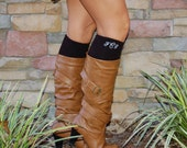 Monogrammed Boot Socks Personalized Knee High