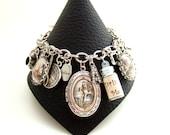 Alice in Wonderland Bracelet Alice in Wonderland Charm Bracelet Altered Art Bracelet Alice in Wonderland Jewelry Alice Jewelry