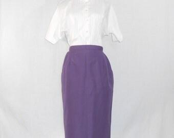 Easter Skirt Burberry Skirt Purple Skirt Pencil Skirt Burberry's Skirt 80s Skirt Womens Skirts Vintage Skirt