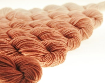 Mini Skein Gradient Ombre DK or Fingering Hand Dyed - Claire