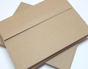 A7 Envelopes KRAFT Brown Set of 25 Stationery Supplies Weddings Envelopes SUMMER SALE