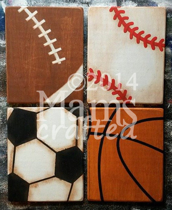 Vintage Baseball Wall Decor : Vintage sports individual weathered wood wall art
