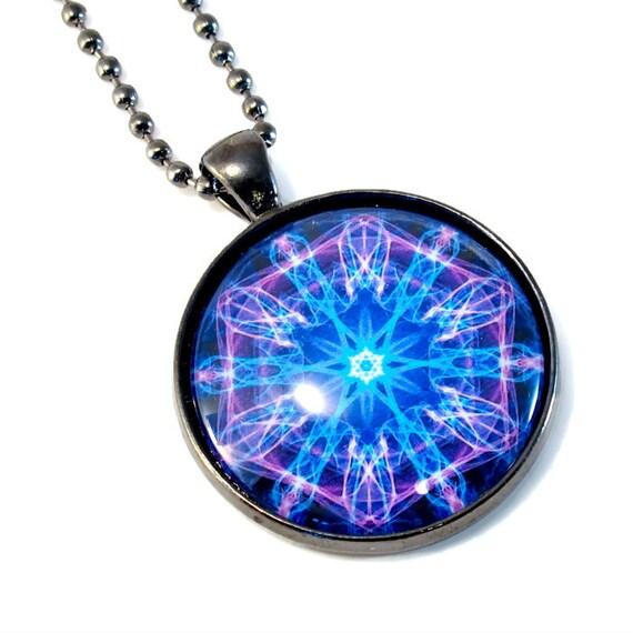 purple blue violet third eye necklace chakra by blukatdesign