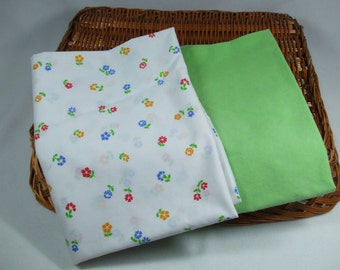 Vintage Pillowcases Bright and Beautiful Floral and Lime Green Designs