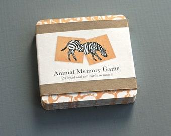 Animal Memory Game - Matching Card Set
