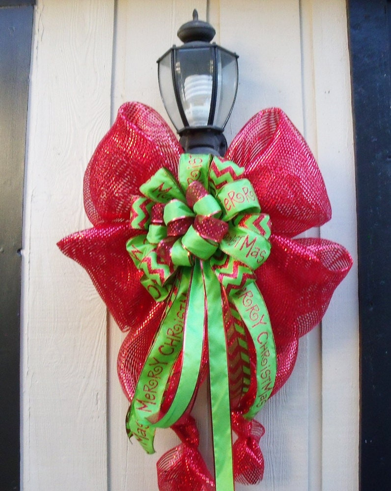 Xl christmas decoration for lamp posts outdoor by luxewreaths for Christmas decorations for outside lamp post