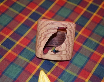Boy Scout Wood Badge Owl Neckerchief Slide Also Called a Woggle